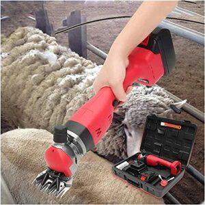 NYZXH Cisailles de mouton rechargeables sans fil 1 8V / 280W Machine de cisaillement de mouton électrique avec batterie au lithium de 4000mah pour le rasage de la laine de fourrure chez des moutons, d