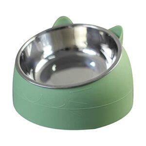 Ping Mini gamelle en acier inoxydable pour chien et chat Design inclinable à 15° Bleu/vert/rose 200 ml