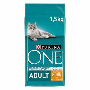 Purina ONE BIFENSIS Nourriture pour chat adulte riche en poulet, renforce les défenses naturelles pour les os sains, la peau, les dents et les voies urinaires I à partir de 1 an – Lot de 6