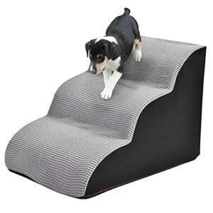 Rampes pour chien en mousse Marches antidérapantes pour chien 3 niveaux Escaliers en mousse pour animaux de compagnie Canapé-lit pour animaux de compagnie Échelle Molleton de maïs + PU + Particules