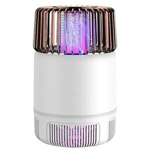 XCYG Tueur de moustiques alimenté par USB, Lampe Violette bionique muet Tueur de moustiques 2 en 1 avec Base détachable, adapté à la Voiture de Bureau à Domicile,Blanc