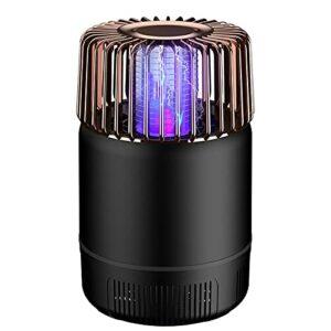 XCYG Tueur de moustiques alimenté par USB, Lampe Violette bionique muet Tueur de moustiques 2 en 1 avec Base détachable, adapté à la Voiture de Bureau à Domicile,Noir