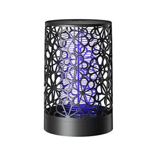 XCYG Tueur de moustiques alimenté par USB, Tueur de moustiques à Lampe Violette bionique avec Base silencieuse détachable, avec Brosse, adapté à la Voiture de Bureau à Domicile,Blanc