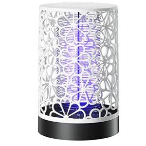 XCYG Tueur de moustiques alimenté par USB, Tueur de moustiques à Lampe Violette bionique avec Base silencieuse détachable, avec Brosse, adapté à la Voiture de Bureau à Domicile,Noir