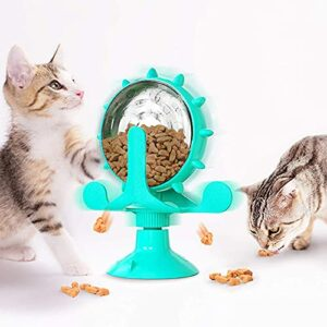 Befitery Moulin à vent pour chat – Jouet étanche – Automatique – Jeu de réflexion interactif – Jeu de stratégie – Puzzle Feeder – Avec distributeur de nourriture