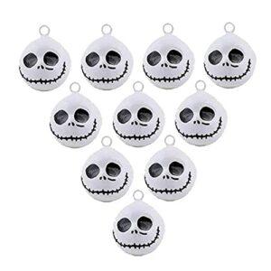 Hainice Halloween Bells Ornement Ghost Skull Bells Pendentifs Collier d'animaux de Compagnie pour Chiens de Chats 10pcs