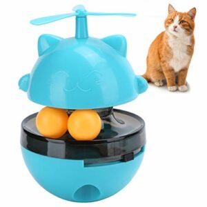 Jouet à mâcher à distribution de nourriture, jouets de puzzle interactifs multifonctionnels jouet d'alimentation pour animaux de compagnie durable réglable pour la maison pour s'amuser pour(bleu)