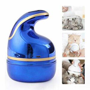 joyvio Masseur pour Animaux de Compagnie, Tête de Brosse en Silicone Souple Massage Doux USB Chargeur Masseur Automatique pour Chiens et Chats (Color : Blue)