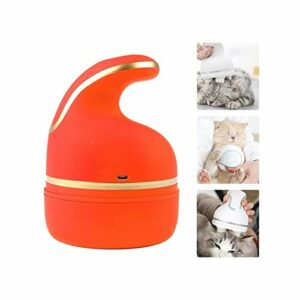 joyvio Pet Cat Head Massager, Soft Silicone Brush Gentle USB Charging Body Massager Multifunctional Household (Color : Orange)