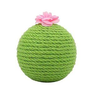 QiKun-Home Pet Cactus Sisal Chat Grattoir Balle Jouet Chat Cactus Grattoir Plaque De Meulage Griffe Creative Pet Supplies