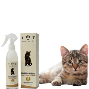 Shampoing à sec naturel et végétal pour chat, 250 ml, sans besoin d'eau ou de rinçage, pour un lavage à sec efficace, ligne 101