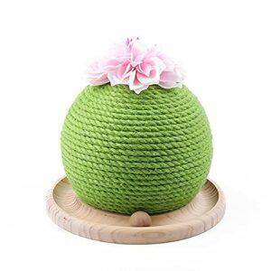 Surgewavelv Piste de Cercle de grattoir de Chat de Forme de Cactus avec des Boules Mobiles Chats Jouets interactifs Boule drôle Jouet d'animal familier drôle