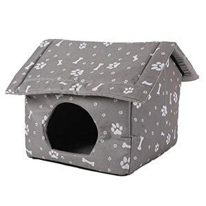 A/A Maison pour Animaux de Compagnie, Maison de Chat Pliable imperméable et résistante au Soleil, abri de Chat de Tente de nid de Chat épaissi pour Chien de Chat
