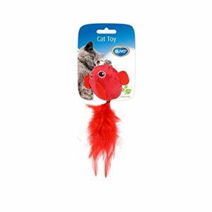 Duvo+ Jouet chat oiseau avec plumes 2 Uni 13 x 10 x 3,5 cm