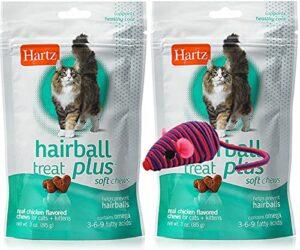 Hair Ball Remedy Plus Lot de 2 friandises et souris hypno