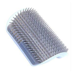 HAISERVEN Brosse de massage Artifact pour enlever les poils de chat – Brosse de massage pour démangeaisons – Peigne à poils de menthe – Jouet pour chat gris (Couleur : A)
