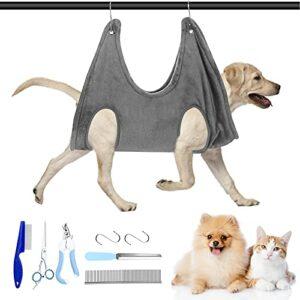 Hamac de toilettage pour animal domestique avec sac de harnais et 5 pièces pour chien et chat