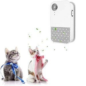 HXPainting Déodorant Litière pour Chat,purificateur d'air pour Litière pour Chat pour La Maison – Neutraliseur D'odeurs Et De Poussière avec Fonction Marche/arrêt Automatique