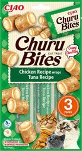 INABA Churu Bites – Cat Treats to Feed from The Hand – Crunchy Pockets with Creamy Filling… (Tuna, 36 Packs)