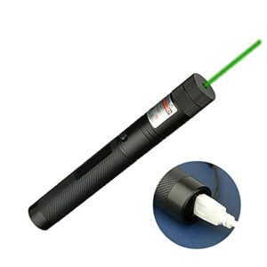 Lampe Penflashlight Puissante avec Câble USB pour Travail Nuit Randonnée Chasse Pêche Vert