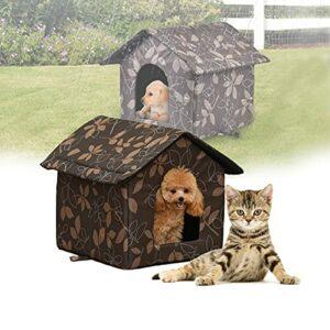 Niche pour chat – Pour l'extérieur – Pour l'hiver – Imperméable – Chaud – Pliable – Pour les chats et les chiens – Dimensions :