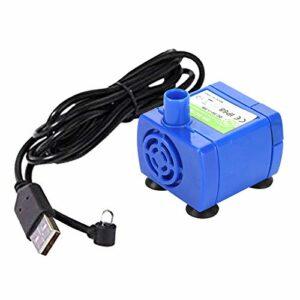 Non-brand USB Port Remplacement de la Pompe pour Chat Fontaine d'eau Fontaine pour Animaux de Compagnie Ultra Calme Longue Durée de Vie Pompe À Eau avec 5.91 m