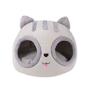 ODOORACT Panier pour chat – Chaud – Intérieur – Niche pour chat – Semi fermé – Pour produits d'animaux de compagnie (30 x 30 x 30 cm)