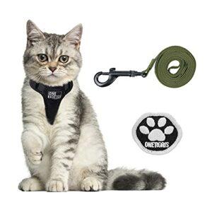OneTigris Harnais pour chat avec laisse Claw Enforcement – Harnais tactique pour chien – Doux – Gilet pour chaton – XS (vert anger, XXS)