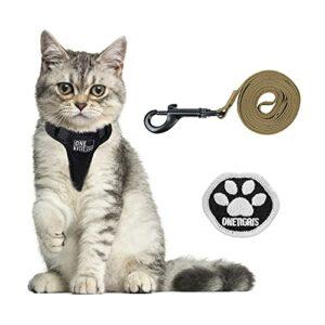 OneTigris Harnais pour chat avec laisse Claw Enforcement – Harnais tactique pour chien – Doux – Gilet pour chaton – XS – XS – Marron – XXS