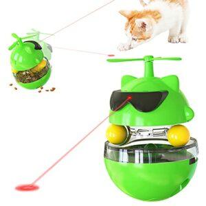 Petalum Jouet pour Chat Interactif Jouets Laser Automatique Electrique Stimulant Amusant à Rotation Gobelet Lumière Infrarouge Catty Toy Rechargeable (Vert)