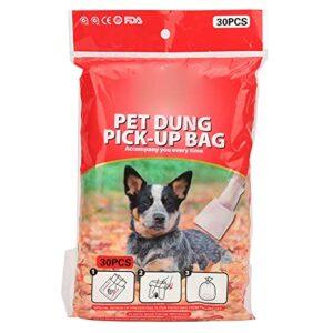Sacs pour animaux de compagnie pour merde, éloignez-vous de l'odeur de problème Prévention des fuites Sacs à déchets pour chiens pour nettoyer les toilettes du chien(30 comprimés)
