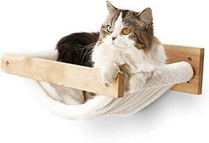 SASONCO Hamac mural pour chat, étagère hamac moderne pour chat, lit et perchoirs, meubles pour dormir, jouer, escalader et se détendre (chaud)