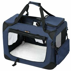 FEANDREA Sac de Transport pour Chien, Caisse Pliable pour Chien Bleu 50 x 35 x 35 cm PDC50Z
