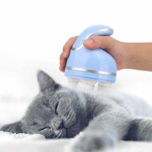 Felenny Chat Masseur Automatique Animal de Compagnie Intelligent USB Charge Massant Ménage Électrique Massage Griffe Fournitures pour Animaux de Compagnie