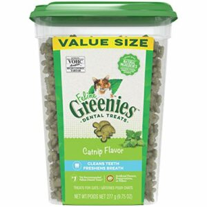 Greenies Feline Dental Cat Treats Catnip Flavor Cleans & Freshens Breath 9.75-Oz