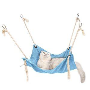 Hamac pour chat, en coton respirant, avec sangles réglables et crochet en métal, pour chat, furet, chiot et autres petits animaux
