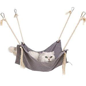 Hamac pour chat, en coton respirant, pour caméra vidéo avec sangles réglables et crochet en métal, pour chat, furet, chiot