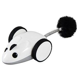 Mouse interactive Standard Robot Standard Cat Toy Cat Toy Contrôle de la télécommande Automatique Chargement USB 360 degrés Toy automatique de plumes de plumes intégrées à LED rotatif intégré