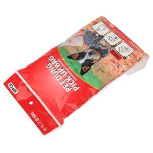 Sacs à déchets pour chiens, sacs pour animaux de compagnie pour le caca Verrouillez la prévention des fuites d'odeurs particulières Deux couches pour nettoyer les toilettes du chien(30 comprimés)