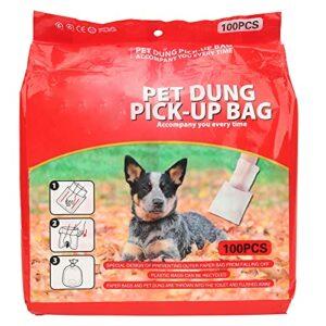 Sacs à déchets pour chiens, sacs pour animaux de compagnie pour le caca Verrouillez la prévention des fuites d'odeurs particulières Deux couches pour nettoyer les toilettes du(100 comprimés)