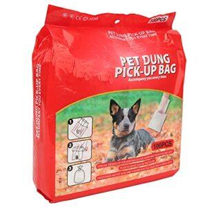 Sacs pour animaux de compagnie pour merde, sacs à déchets jetables pour chiens Prévention des fuites à deux couches pour nettoyer les toilettes du chien(100 comprimés)