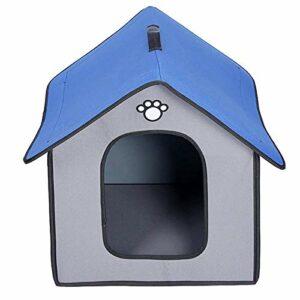 SZHWLKJ Chat Bed House Tente de Pet en plein air pliable,refuge de chiot,facile à assembler,lit imperméable pour animaux de compagnie,sac de couchage pour animaux de compagnie portable,fournitures pou