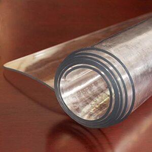 Wwtt Tapis Tapis de 1,5 Mm D'épaisseur,Tapis de Passage Transparent Rectangulaire pour Le Bureau de la Chambre du Salon,Protecteur de Couverture de Table Imperméable en Plastique